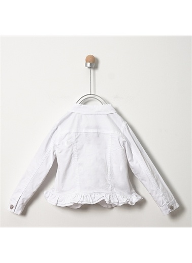 Panço Kız Bebek Mont 19124090100 Beyaz